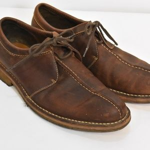 Men's Cole Haan Brown Leather Lace Up Shoes 9.5